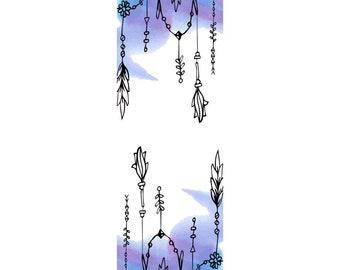 Watercolor | Bookmark | Purple!