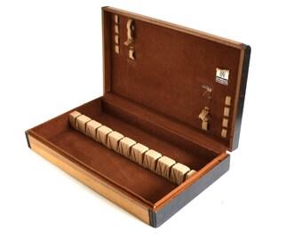 Empty Flatware Chest Wood Silverware Storage Box Case (as Is)