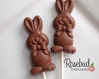 12 BUNNY RABBIT Chocolate Lollipop Candy Favors Easter