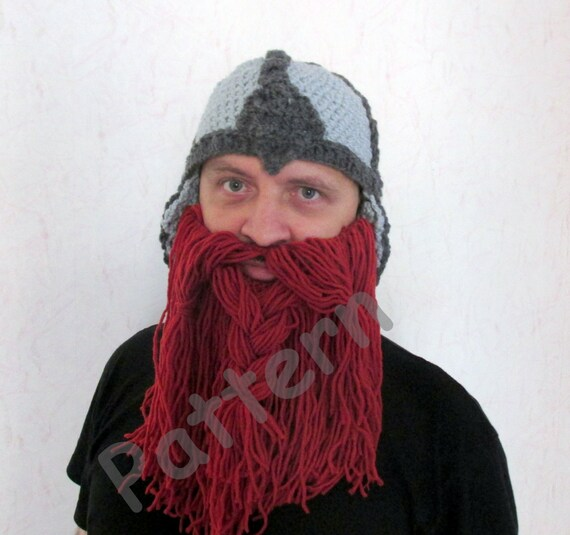 Crochet Viking Hat Pattern Crochet Beard Hat Pattern Adult Size