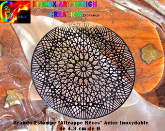 6 large dream catcher print dream finely crafted in stainless 4.3 cm Ø