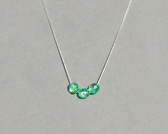 Turquoise Green Czech Glass Necklace