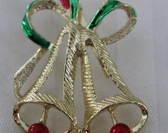 Bells Holiday Brooch