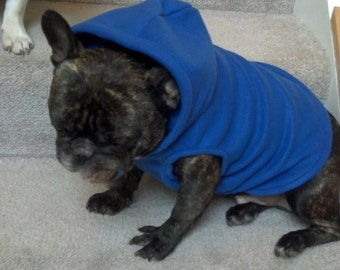 French Bulldog Royal Blue  Fleece Hoodie