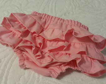 Ruffle Diaper Cover, Pink diaper cover, Baby girl diaper cover, Infant diaper cover, Toddler diaper cover