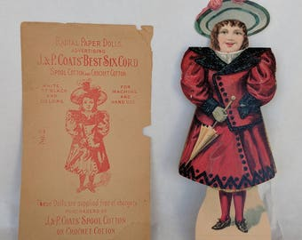 Vintage Paper Doll.  Paper Doll,  Radial Paper Doll, Antique Advertising