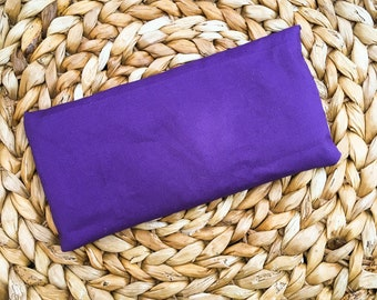 Lavender & Chamomile Aromatherapy Eye Pillow | Hot/Cold Rice Pack | Yoga Eye Pillow | Gift for Her | Gift for Mom | Relaxation | Eye Pillow