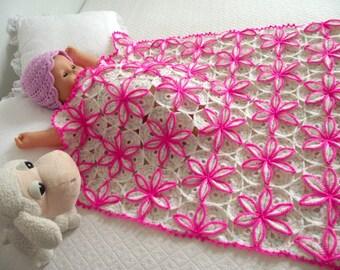 CROCHET BABY BLANKET Pattern Princessa Baby Blanket pattern baby blanket Crochet Pattern flowers handmade pdf pattern instant download