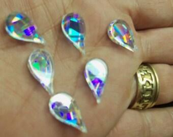 holographic, raindrops,TEARDROPS. RAINDROP CHARMS, holographic acrylic,laser cut raindrops, teardrops, teardrop charms,kawaii charms,radiant