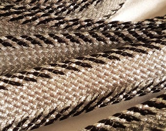 Lace Ribbon Sfifa Moroccan silver and black