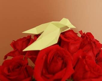 Bird Papercraft, Papercraft animal, Low poly papercraft, 3D model papercraft