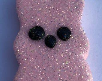 Easter Peep Glitter Polymer Clay Charm