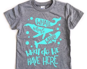 Whale Whale Whale tee for infants, toddlers, and children