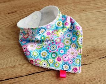Girl bandana bib, Teething bib, Drool bib, Baby bandana bib, Baby girl gift, Newborn gift, Baby Christmas gift, Floral Bandana bib