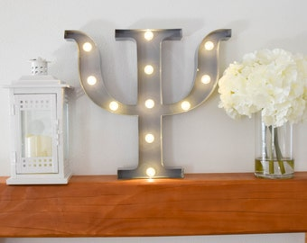 Psi Greek Letter Lights, Letter Marquee Light Psi, Psi Sorority Marquee Letters, Psi Light up Letters, Psi Sorority Lights, Marquee Signs