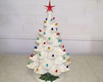 """18"""" Nowell Ceramic Christmas Tree"""