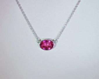 Swarovski Crystal Necklace - Swarovski Crystal Solitaire - Sterling Silver Filled Necklace