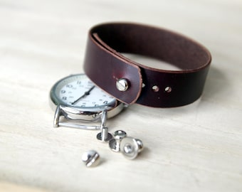 Leather watch strap for Timex Weekender - Color 8 Workshoe Butt Shell Cordovan Chromexcel 20mm