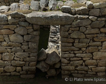 Sacred Valley Entries 8, Fine Art Photography, Landscape, Inca, Ollantaytambo, Small Town, Doorway, Ruins, Archaeology, Wall Art, Home Decor