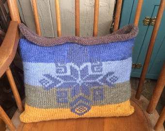 Winter Sky Knit Pillow