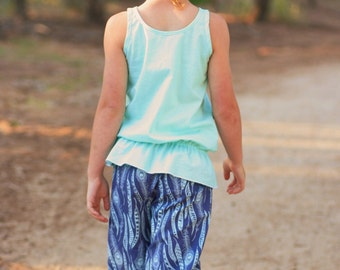 Endless Summer Tank tunic or dress - girls' Summer top - PDF pattern