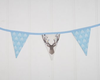 Blue Deer and Blue Arrow Bunting Flags