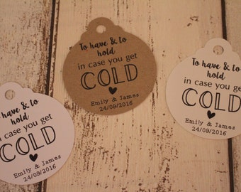 Personalised Rustic Wedding Favour Tags- Pashmina tags