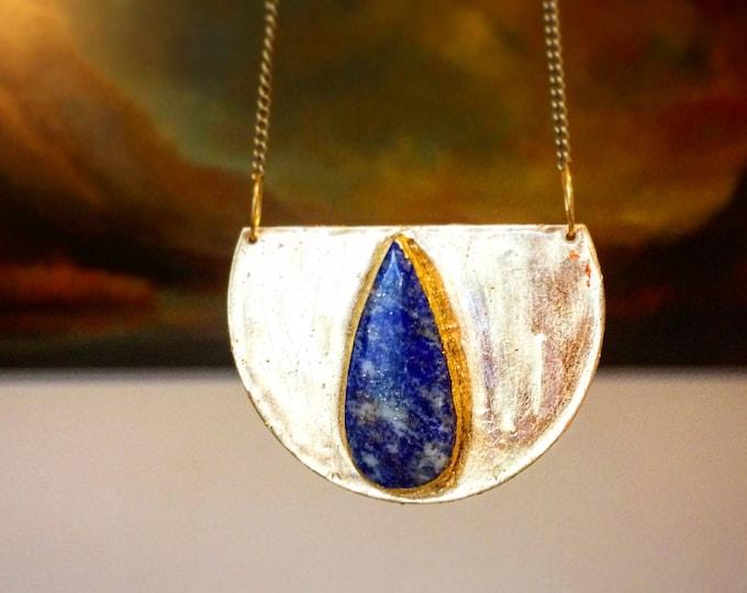 Lapis Lazuli Medallion Necklace