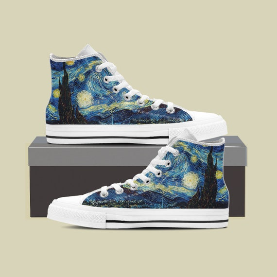 Shoes Shoes Vincent Night Custom Painting Gogh Converse Starry Custom Van Gogh Sky Stars Van Converse Art Starry Gogh Van Night Night w0f8qzO
