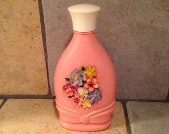Buttons and Bows Pink Plastic Bottle by Avon