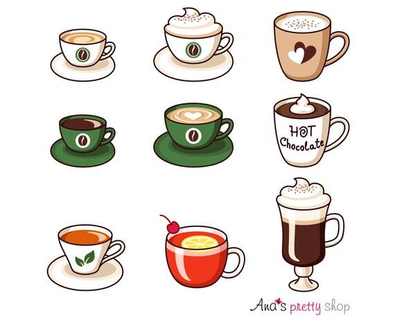 Heiße Getränke Clipart Tassen Clipart Espresso Kaffee