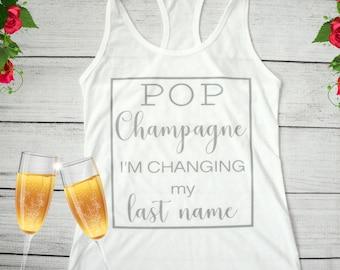 Bride tank top, bridal party tanks, women's wedding shirt, bachelorette party shirt, bridal gift