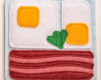 Breakfast coasters- Bacon & Eggs (1)