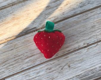 Strawberry Plushie Keychain