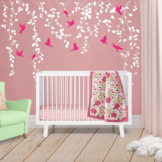 Nursery Art For Children Kids Wall Art Baby Girl Nursery Baby: Vine Wall Decal For Baby Girl Nursery Décor Wall Vines