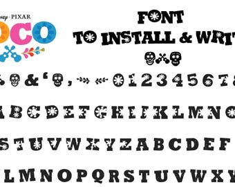 Coco Movie Inspired Font. To install and write AND CUT!