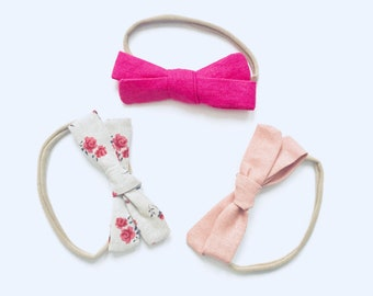 SALE!!!Set of Three Hand tied bows