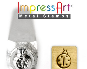 "Lady Bug Stamp,  6mm 1/4"", Metal Stamp,  ImpressArt Stamping Insect Bug Jewellery Tool Jewelry Making Tool"