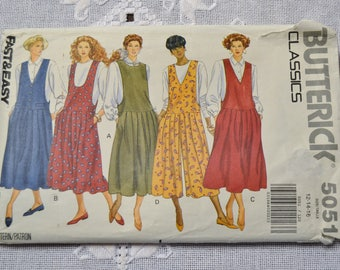 Butterick 5051 Sewing Pattern Misses Jumper Jumpsuit Size 12 14 16 DIY Sewing Vintage Sewing Pattern PanchosPorch