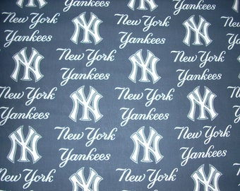 New York Yankees Cotton Fabric  35 inches long by 14 inches wide