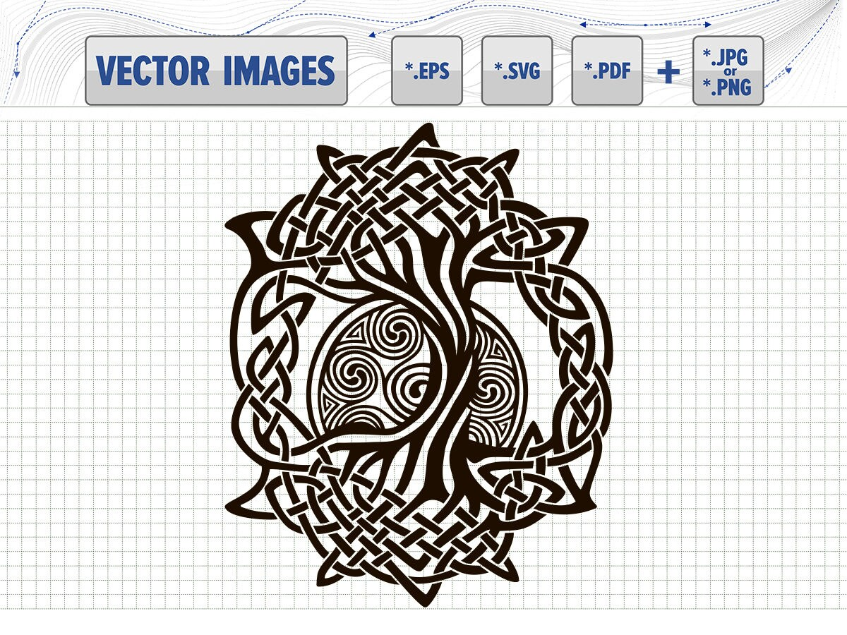 Celtic Symbol Tree Of Life Vector Graphic Svg Dxf Eps Pdf And Png