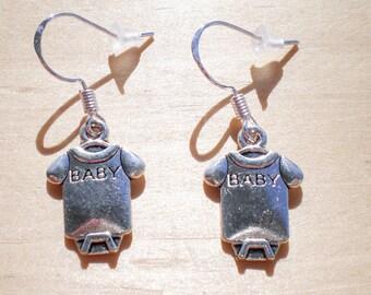 Baby Shower Earrings, Baby Romper Earrings, Baby Clothes Earrings, Charm Earrings, Jewelry Findings