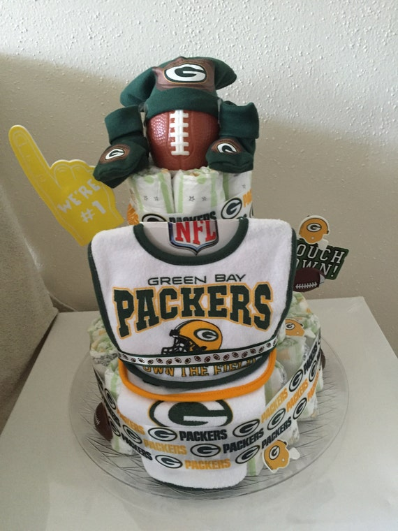 Green Bay Packer Diaper Cake