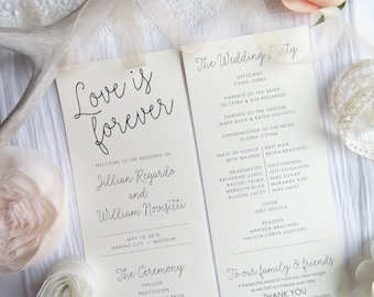 Wedding Programs    Ceremony program    Double Sided Programs - Style P118 -  DELICATE PROGRAMS COLLECTION