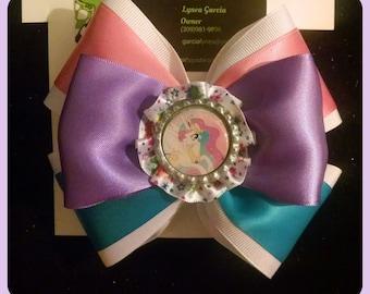 My Little Pony inspired hair bow, Princess Celestia hair bow