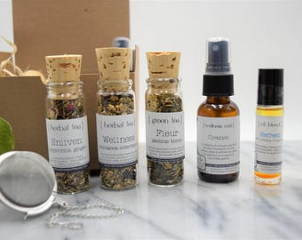 Wellness Collection - 3 Teas, Mist, Roll On Oil -  all natural, organic, vegan