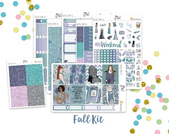 Queens Game- A LA CARTE Vertical Weekly Kit planner stickers- Medieval, Fantasy