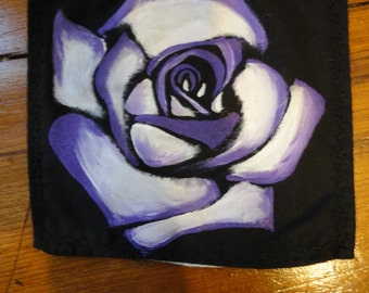 Purple and White Rose Patch