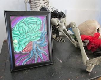 Brainz! Original Framed Drawing