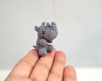 Micro Crocheted Rhino
